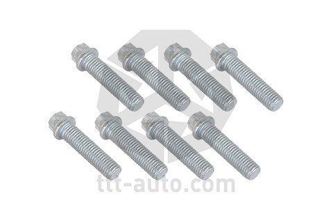 Precision Set of 12 Black Chrome Bolts /& Locking set for Aygo Part No.12BM17B+B17B143